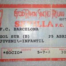 Coleccionismo deportivo: ENTRADA FUTBOL SEVILLA BARCELONA 1990. Lote 156312093