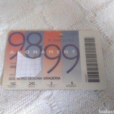 Coleccionismo deportivo: ABONAMENT -F.C.BARCELONA 98 99. Lote 156481736