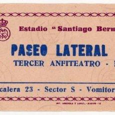 Coleccionismo deportivo: 2 ENTRADAS TICKET FUTBOL ESPAÑA REAL MADRID CELTA DE VIGO SANTIAGO BERNABEU 19-09-1971 Y 21-4-1974. Lote 156670814