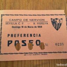 Coleccionismo deportivo: R5785 ENTRADA TICKET FUTBOL SEVILLA RECREATIVO DE HUELVA CAMPO DE NERVION AMISTOSO. Lote 156780978