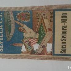 Coleccionismo deportivo: ENTRADA OCTAVOS DE FINAL III COPA DE EUROPA. SEVILLA AARHUS. AÑO 1957. Lote 156891282