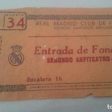 Coleccionismo deportivo: ENTRADA OCTAVOS DE FINAL COPA DE EUROPA. REAL MADRID MILAN. AÑO 1964. Lote 156997194