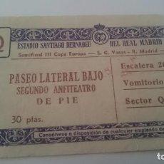 Coleccionismo deportivo: ENTRADA SEMIFINAL III COPA DE EUROPA. REAL MADRID VAYAS. AÑO 1958. Lote 156997370