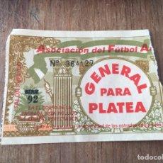 Coleccionismo deportivo: R5824 ENTRADA TICKET FUTBOL ARGENTINA . Lote 157952670