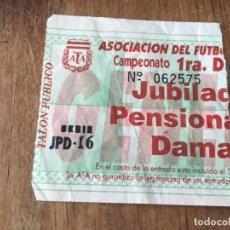 Coleccionismo deportivo: R5831 ENTRADA TICKET FUTBOL ARGENTINA AFA. Lote 157954930