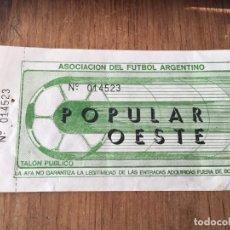 Coleccionismo deportivo: R5842 ENTRADA TICKET FUTBOL ARGENTINA . Lote 157957134