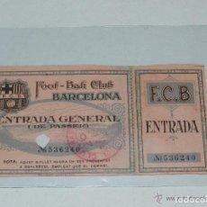 Coleccionismo deportivo: ENTRADA DEL FC BARCELONA - FOOT-BALL CLUB BARCELONA ( ORIGINAL ) 26 DE MARZO 1926 O 1927 ?. Lote 158362602