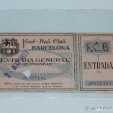 Coleccionismo deportivo: ENTRADA DEL FC BARCELONA - FOOT-BALL CLUB BARCELONA ( ORIGINAL ) 2 DE MAYO 1926. Lote 158362826