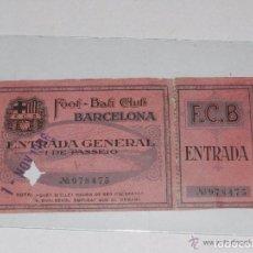 Coleccionismo deportivo: ENTRADA DEL FC BARCELONA - FOOT-BALL CLUB BARCELONA ( ORIGINAL ) 1 DE NOVIEMBRE 1926. Lote 158363018