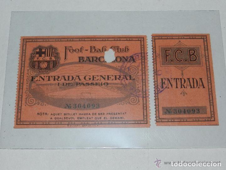 ENTRADA DEL FC BARCELONA - FOOT-BALL CLUB BARCELONA ( ORIGINAL ) 9 DE ENERO 1926 O 1927 ?? (Coleccionismo Deportivo - Documentos de Deportes - Entradas de Fútbol)