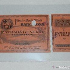 Coleccionismo deportivo: ENTRADA DEL FC BARCELONA - FOOT-BALL CLUB BARCELONA ( ORIGINAL ) 9 DE ENERO 1926 O 1927 ??. Lote 158363238