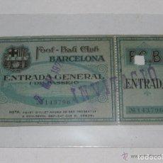 Coleccionismo deportivo: ENTRADA DEL FC BARCELONA - FOOT-BALL CLUB BARCELONA ( ORIGINAL ) 2 DE MAYO 1926. Lote 158363382