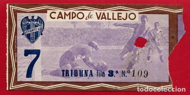 ENTRADA FUTBOL LEVANTE UD , CAMPO VALLEJO , ORIGINAL , EF3484 (Coleccionismo Deportivo - Documentos de Deportes - Entradas de Fútbol)