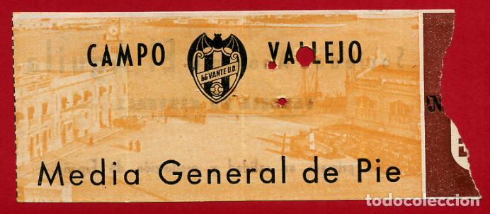 ENTRADA FUTBOL LEVANTE UD , ANTIGUA , CAMPO VALLEJO , ORIGINAL , EF3491 (Coleccionismo Deportivo - Documentos de Deportes - Entradas de Fútbol)