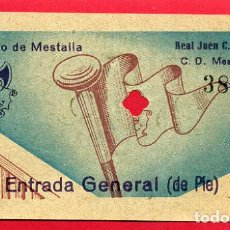 Coleccionismo deportivo: ENTRADA FUTBOL VALENCIA CF MESTALLA JAEN , ANTIGUA , ORIGINAL , EF3528. Lote 158437506