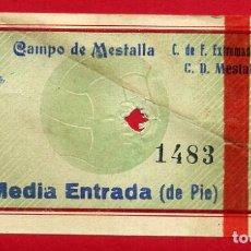 Coleccionismo deportivo: ENTRADA FUTBOL VALENCIA CF MESTALLA EXTREMADURA , ANTIGUA , ORIGINAL , EF3530. Lote 158438018