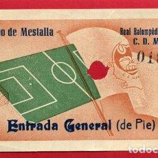 Coleccionismo deportivo: ENTRADA FUTBOL VALENCIA CF MESTALLA LINENSE , ANTIGUA , ORIGINAL , EF3532. Lote 158438162