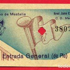 Coleccionismo deportivo: ENTRADA FUTBOL VALENCIA CF MESTALLA JAEN , ANTIGUA , ORIGINAL , EF3546. Lote 158441018