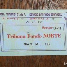 Coleccionismo deportivo: ENTRADA TICKET REAL MADRID 4 BORUSSIA MONCHENGLADBACH 0 VUELTA OCTAVOS FINAL COPA UEFA 1985 1986. Lote 159376022