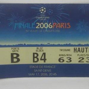 2006 Entrada original Final Champions League Barcelona 2 Arsenal 1 Saint Denis Excelente estado