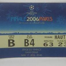 Coleccionismo deportivo: 2006 ENTRADA ORIGINAL FINAL CHAMPIONS LEAGUE BARCELONA 2 ARSENAL 1 SAINT DENIS EXCELENTE ESTADO. Lote 159649550