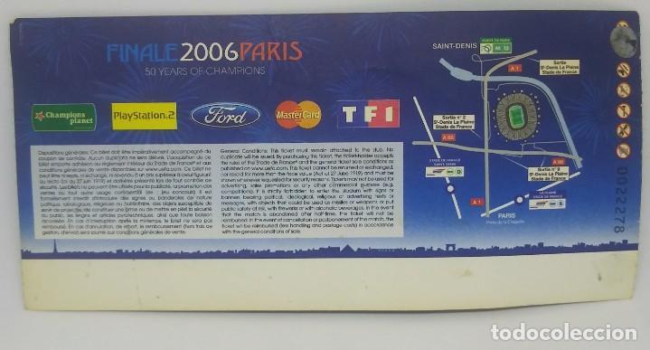 Coleccionismo deportivo: 2006 Entrada original Final Champions League Barcelona 2 Arsenal 1 Saint Denis Excelente estado - Foto 2 - 159649550