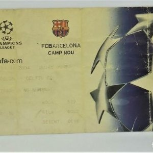 2004 Entrada original Uefa Champions League Barcelona Celtic Camp Nou