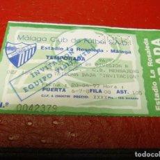 Coleccionismo deportivo: ENTRADA MALAGA CF-CD MENSAJERO 96-97. Lote 159686410
