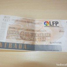 Coleccionismo deportivo: ENTRADA MINI ESTADI FC BARCELONA - ATLETICO DE MADRID 15/12/96. Lote 161157810