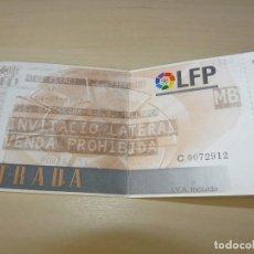 Coleccionismo deportivo: ENTRADA MINI ESTADI FC BARCELONA - RCD MALLORCA 04-01-1997. Lote 161159550