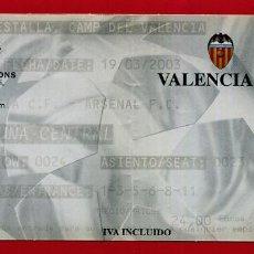 Coleccionismo deportivo: ENTRADA FUTBOL, VALENCIA CF - ARSENAL , CHAMPIONS LEAGUE 2003 , ORIGINAL , EF4061. Lote 161800818