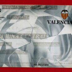 Coleccionismo deportivo: ENTRADA FUTBOL, VALENCIA CF - ARSENAL , CHAMPIONS LEAGUE 2001 , ORIGINAL , EF4069. Lote 161802642