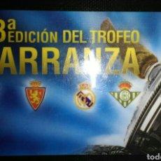 Coleccionismo deportivo: ENTRADA ABONO FUTBOL TROFEO CARRANZA 2007. Lote 172374757