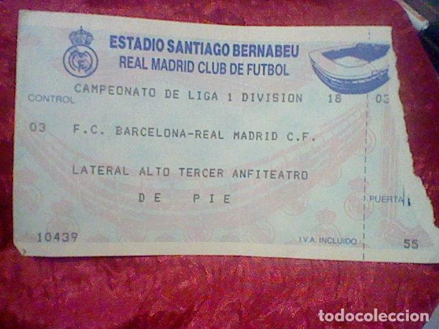 Barcelona F C Real Madrid Entrada Futbol Origi Comprar Entradas De Fútbol Antiguas En Todocoleccion 164149522