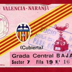 Coleccionismo deportivo: ENTRADA FUTBOL, VALENCIA CF XII TROFEO NARANJA , AÑOS 1980 , ORIGINAL , EF4142. Lote 164686902
