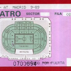 Coleccionismo deportivo: ENTRADA FUTBOL, VALENCIA CF ATLETICO MADRID , 1989 , ORIGINAL , EF4143. Lote 164687042