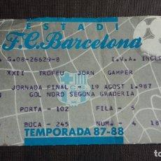 Coleccionismo deportivo: ENTRADA / TICKET ESTADI FC. BARCELONA VS F.C. PORTO - XXII TROFEU JOAN GAMPER - TEMPORADA 87/88. Lote 164757338