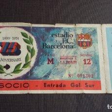 Coleccionismo deportivo: ENTRADA / TICKET ESTADI FC. BARCELONA VS MANCHESTER CITY - 75 ANIVERSARI - . Lote 164757594