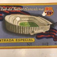 Coleccionismo deportivo: RCD ESPAÑOL-REAL MADRID JUGADO EN LES CORTS MUY RARO!! (CAMPO DEL FC BARCELONA) 12/09/1956 LIGA J.2. Lote 164964577
