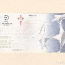 Coleccionismo deportivo: ENTRADA CELTA - AJAX. UEFA CHAMPIONS LEAGUE. BALAIDOS 4.11.2003. RIO BAJO - SELLO CELTA REVERSO. Lote 165087930