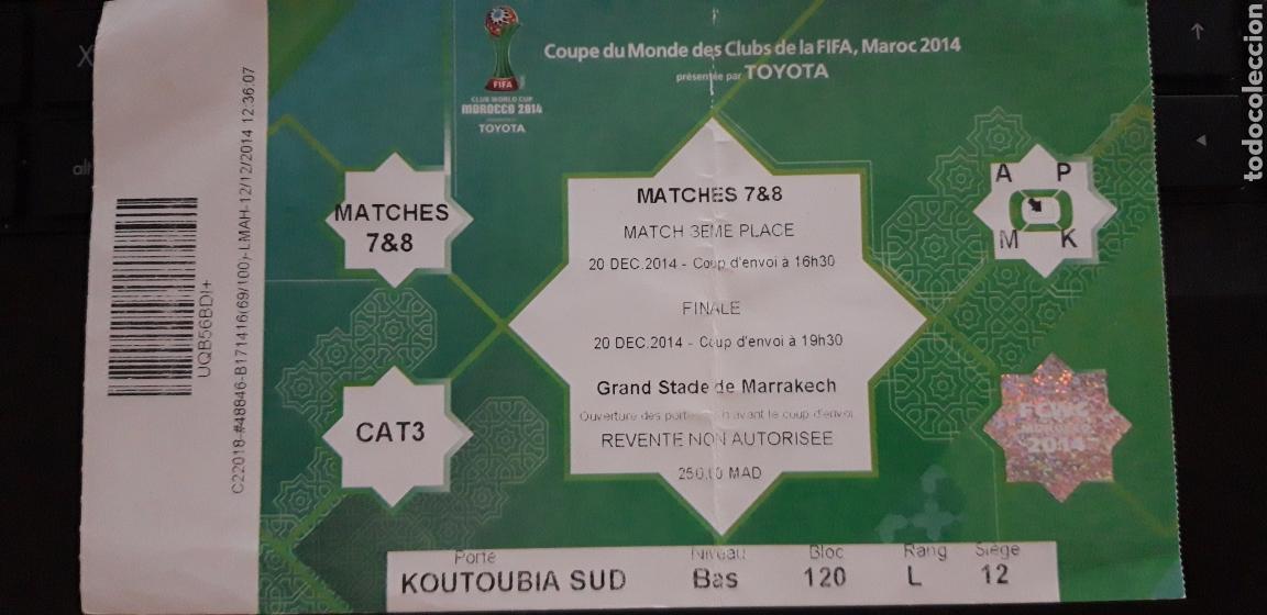 ENTRADA FINAL MUNDIAL DE CLUBS REAL MADRID VS SAN LORENZO 2014 (Coleccionismo Deportivo - Documentos de Deportes - Entradas de Fútbol)
