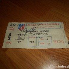 Coleccionismo deportivo: ENTRADA. ATLÉTICO DE MADRID. VICENTE CALDERÓN. PARTIDO 5. HOMENAJE A JOSÉ EULOGIO GÁRATE.. Lote 165616246