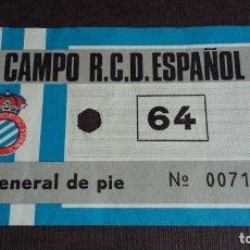 Coleccionismo deportivo: ENTRADA / TICKET CAMPO ESTADIO R.C.D. ESPAÑOL - AÑOS 70/80. Lote 165780142