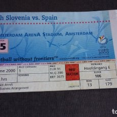 Coleccionismo deportivo: ENTRADA / TICKET / EURO 2000 - ESPAÑA VS ESLOVENIA ( 18/06/2000 ) - . Lote 166639002