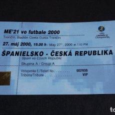 Coleccionismo deportivo: ENTRADA / TICKET / MUNDIAL 2000 SUB 21 - ESPAÑA VS REPÚBLICA CHECA ( 27/05/2000 ) - . Lote 166639486