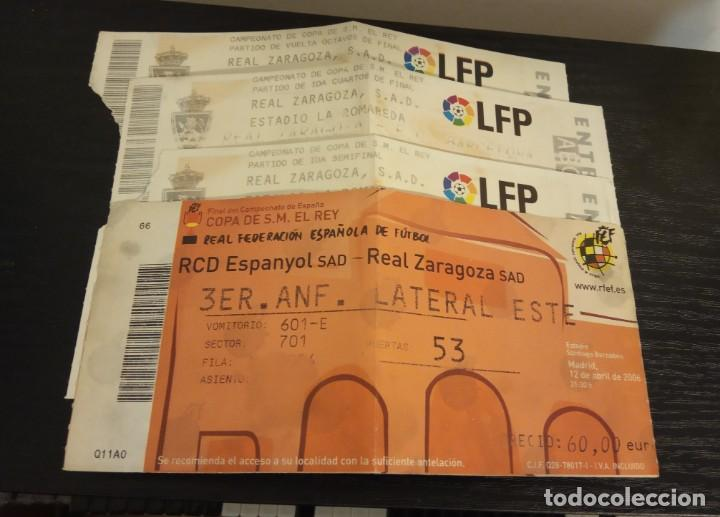 -ENTRADA FUTBOL FINAL COPA REY 2006 R. ZARAGOZA - ESPAÑOL + 1/8 , 1/4 Y 1/2 FINAL (Coleccionismo Deportivo - Documentos de Deportes - Entradas de Fútbol)