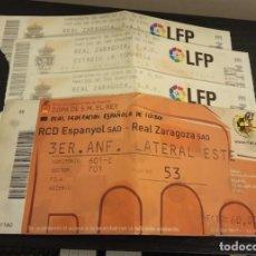 Coleccionismo deportivo: -ENTRADA FUTBOL FINAL COPA REY 2006 R. ZARAGOZA - ESPAÑOL + 1/8 , 1/4 Y 1/2 FINAL. Lote 167630412