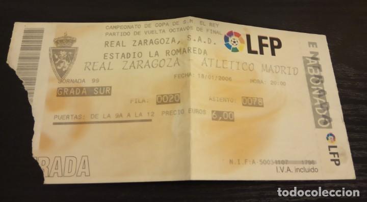 Coleccionismo deportivo: -ENTRADA FUTBOL FINAL COPA REY 2006 R. ZARAGOZA - ESPAÑOL + 1/8 , 1/4 Y 1/2 FINAL - Foto 2 - 167630412