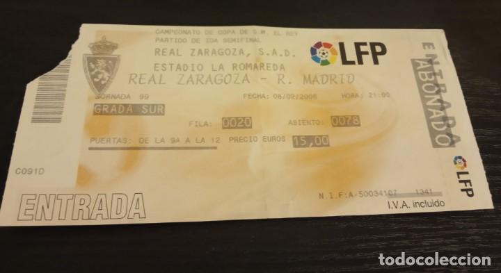 Coleccionismo deportivo: -ENTRADA FUTBOL FINAL COPA REY 2006 R. ZARAGOZA - ESPAÑOL + 1/8 , 1/4 Y 1/2 FINAL - Foto 6 - 167630412
