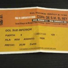 Coleccionismo deportivo: -ENTRADA FUTBOL FINAL DE LA COPA DEL REY 2004 : REAL MADRID - REAL ZARAGOZA. Lote 167630500